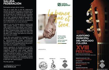 XVIII FESTIVAL de la Federación de Orquestas de Pulso y Púa de la Comunidad Valenciana